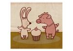 Bunny, Cupcake, Piggy