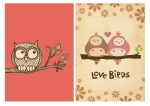 Owl and Love Birds