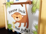 please lock the gate sign