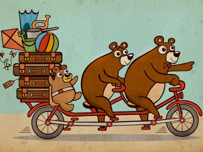 bears-on-a-bike